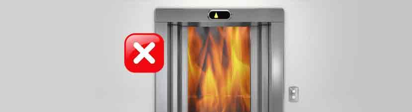 ascensor en llamas