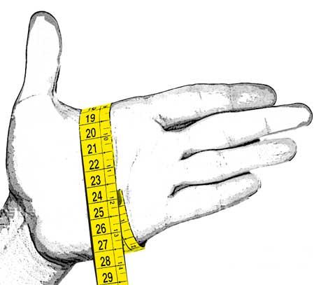 mano con metro
