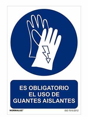 señal guantes aislantes