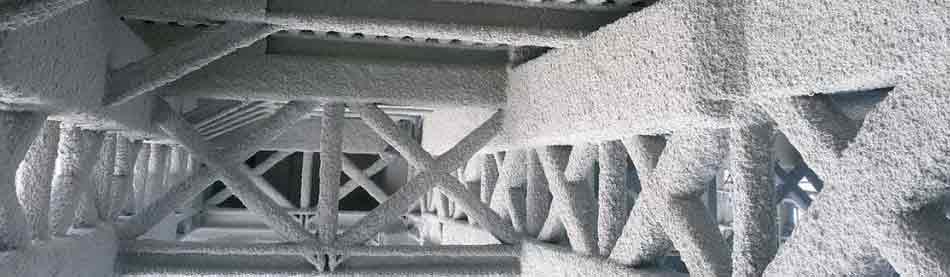 mortero ignifugo en acero
