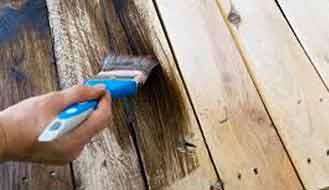 pintura sobre madera