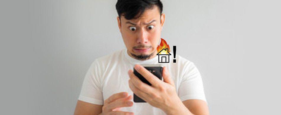 Aviso de fuego al móvil